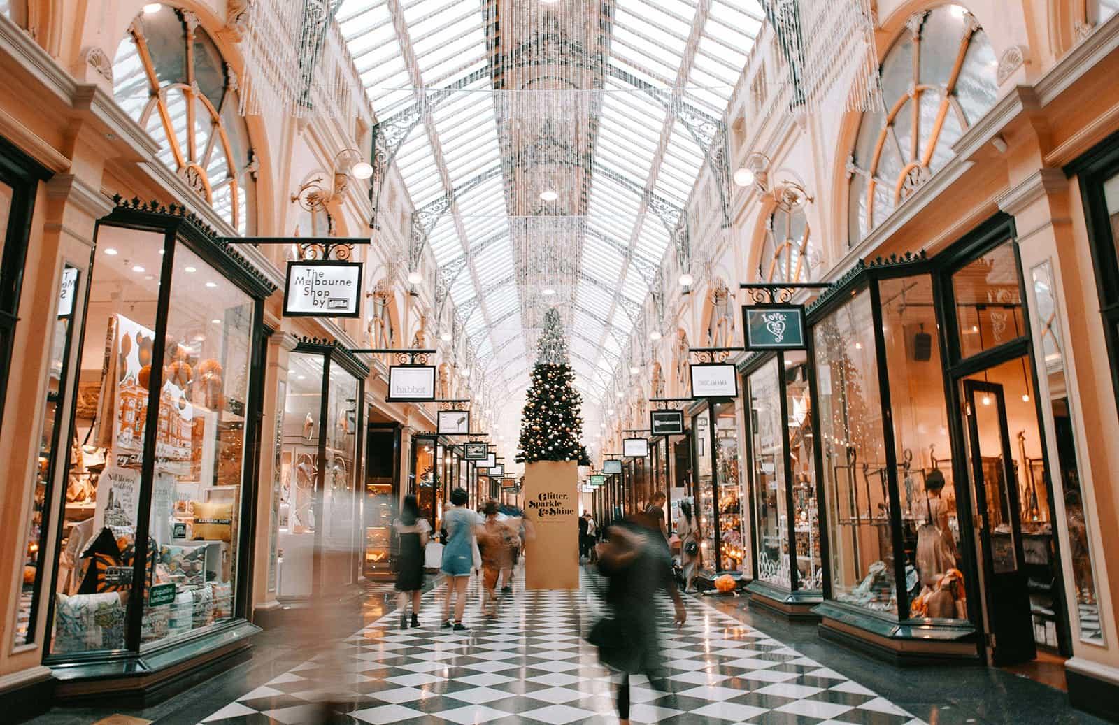 Galerie marchande à l'ancienne à Melbourne